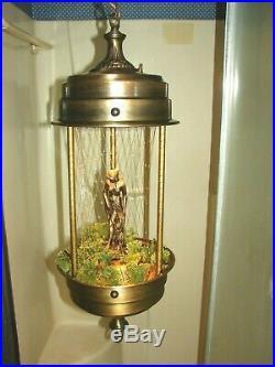 Vintage Rain Motion Lamp Hanging Swag Style Working