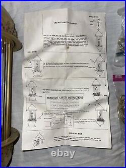 Vintage Rain Oil Drip Motion Hanging Swag Lamp Old Grist Mill Brand New NOS