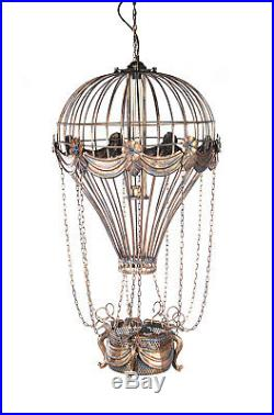 Vintage Replica Hot Air Balloon Ceiling Lamps 41 Hanging Metal Model Assembled