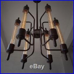 Vintage Restoration 6 Bulbs Steampunk Pendant Hanging Lamp Dark Brown 20TH C. New