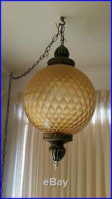 Vintage Retro Mod Swag Hanging Lamp