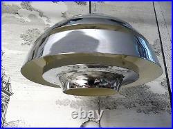 Vintage SCANDINAVIAN Chromed METAL Pendant Hanging Lamp Metall Hängelampe 1960s