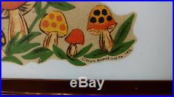 Vintage Sears Merry Mushroom 6-Sided Glass Pendant Lamp Hanging Light 1976 RARE