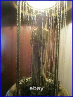 Vintage Semi Nude Hanging Goddess Rain 32 Lamp Creators Corp Mineral Oil Works