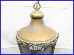 Vintage Slag Glass Chandelier Porch Lamp Light Hanging Ornate Victorian House