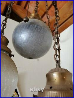 Vintage Swag 5 tier Hanging Light with Chain Mid-Century Modern Lamp Pendant