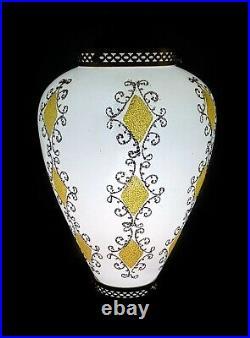 Vintage Swag Light Lamp Hanging Ceiling MID Century Modern MCM Glass Retro