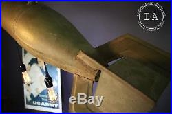Vintage US Army Practice Bomb Hanging Lamp Chandelier