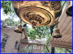 Vintage Victorian 4 Light Chandelier Brass Hanging Ceiling Antique Fixture Lamp