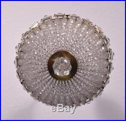 Vintage Waterfall Bronze & Cut Glass Hanging Lamp/Chandelier