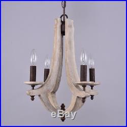 Vintage Wine Barrel Chandelier Rustic Light Fixture Wood Ceiling Hanging Lamp