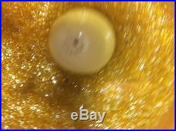 Vintage Yellow Large Spaghetti Hanging Lamp Light Mid Century Modern Retro