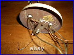 Vintage double hanging swag lights lamps frosted crackle glass globes (LS)