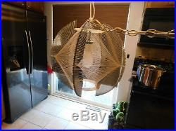 Vintage hanging lamp Mid Century Lucite Swag Retro Works Chandelier 1960's 70's