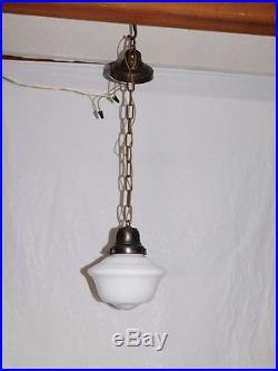 Vintage industrial schoolhouse pendant chandelier ceiling fixture hanging lamp