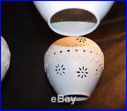 Vtg 1950's Ceramic Mid Century Modern Pendant Light Fixture Hanging Ceiling Lamp