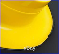 Vtg 1960's Arte Plastica of Spain Yellow Lady Face Hat Light Hanging Lamp