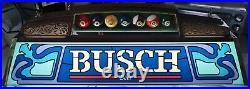 Vtg 40 BUSCH BEER Hanging POOL LIGHT, Billiards Table LAMP Anheuser, BALLS