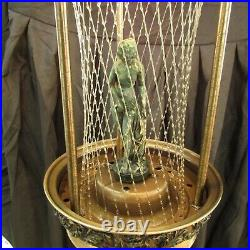 Vtg 60's Johnson Industries Oil Rain Hanging Lamp withVenus Statue Works MP275