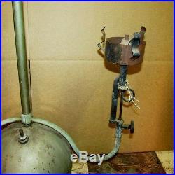Vtg Akron Lamp Co/Coleman Type Gas Hanging Chandelier Light Dual Burner J0239