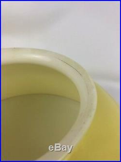 Vtg Antique 14 Yellow Glass Hanging Oil Lamp Shade Kerosene Parlor Library 6.5