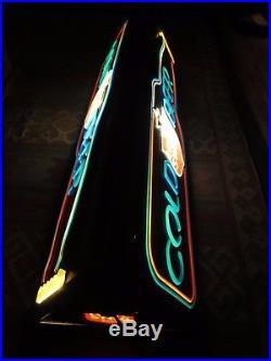 Vtg LONE STAR Cold Beer Hanging Billiards Lamp / Bar Sign / Light pearl shiner