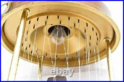 Vtg Lg 36 Rain Drip Mineral Oil Hanging Rain Swag Lamp Light House Water Wheel