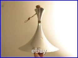 Vtg MCM Saarinen Style Hanging Tulip Base Pendant Lamp Light Fixture Space Age