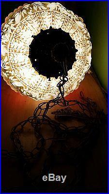Vtg Mid Century Carl Falkenstein Hanging Swag Lamp Light Grape Clusters Globe