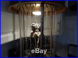 Vtg Retro Oil Drip Motion Hanging Lamp- 3 Graces- Goddesses
