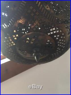 Vtg hanging light Ceiling Gothic Modern Mid Century Art Deco Pod Industrial Lamp