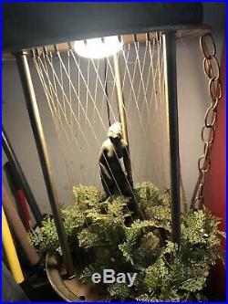 Vtg rain lamp goddess Oil Hanging Swag Motion Hanging Light Antique 1970s