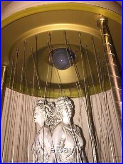 Working Vintage Hanging 35 Johnson Industries 3 Greek Goddess Rain Oil Lamp