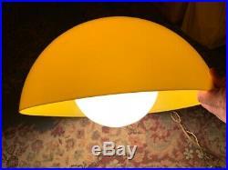 Yellow Vintage Mid Century Modern Hanging Mushroom Ceiling Lamp